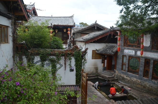 Washing day Lijiang style.