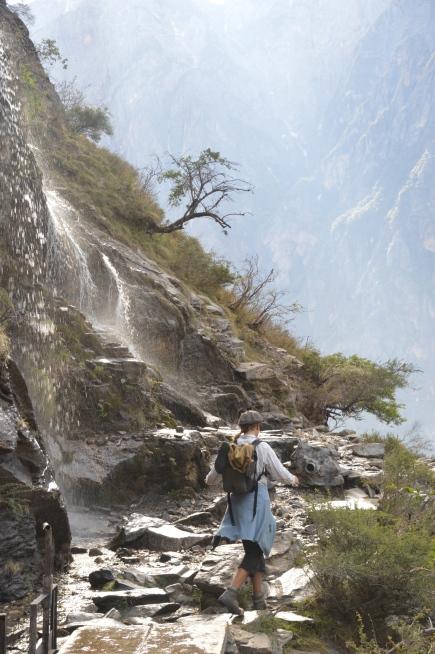 Skipping passed waterfalls.