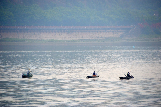 Fisherman on the Minjiang River.