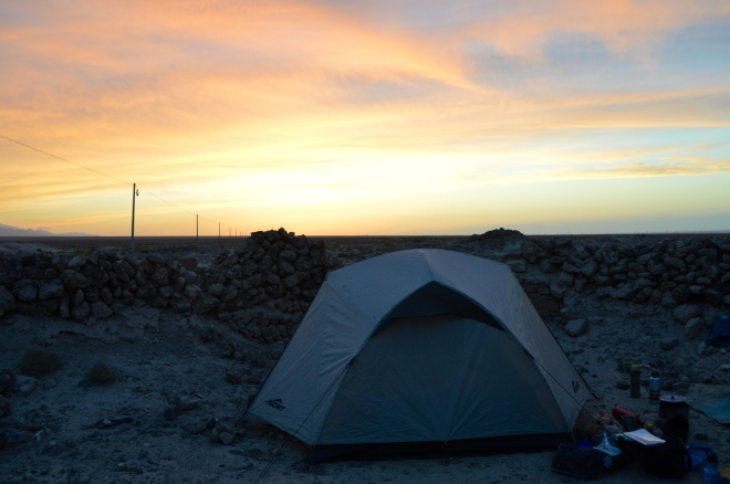 Sunset tent.