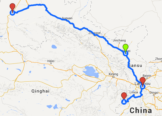 The map of this leg of the journey.