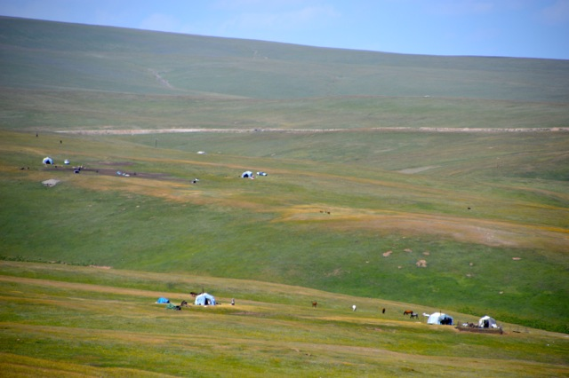 The yurts of the Kyrgz nomads.