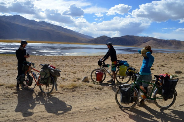 Neil, Jeff, Jude and I about to leave Lake Bulunkul for our adventure to the Wakhan Valley.