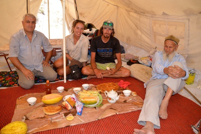 Chai again does not mean just tea. Our feast with the honey man and his family.