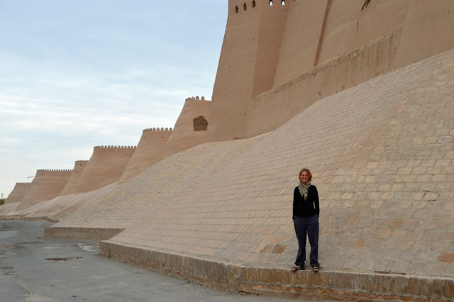 Khiva's city walls.