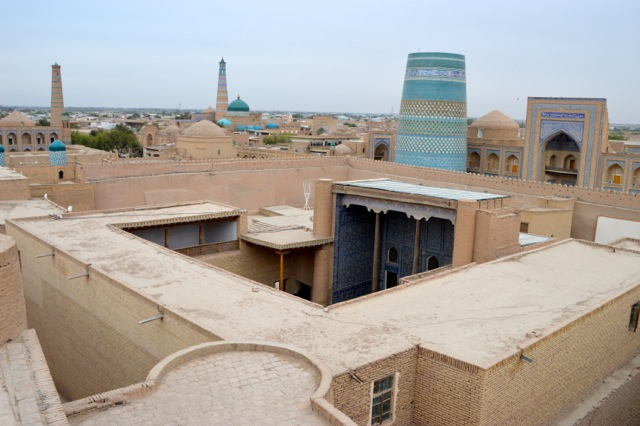 View of Khiva from the city walls.