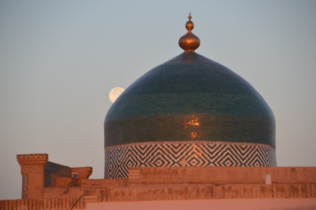Moonrise over Khiva.