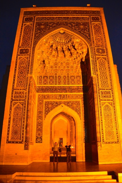 It's huge - the entry to Gur-E-Amir Mausoleum