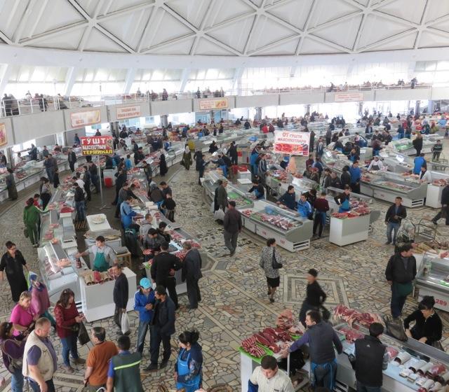 Inside Chorsu market.