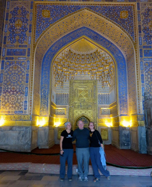 Inside the Golden Mosque, Samarkand.
