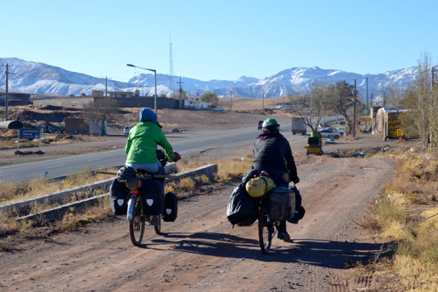 Cycling out of one of the many small villages on route 95.