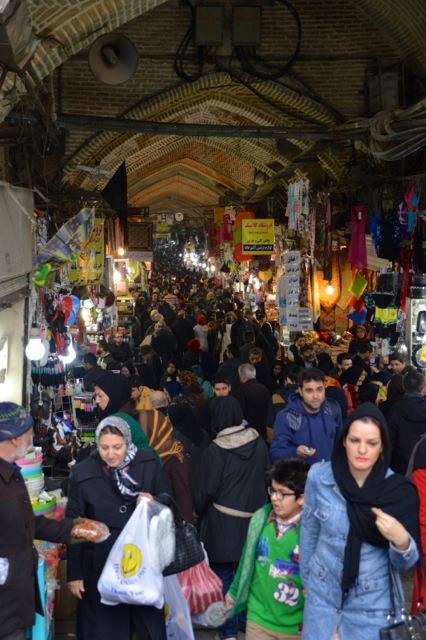The Grand Bazaar of Tehran.