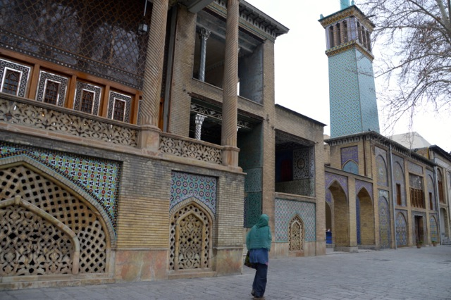 Wandering the grounds of the Golestan Palace.