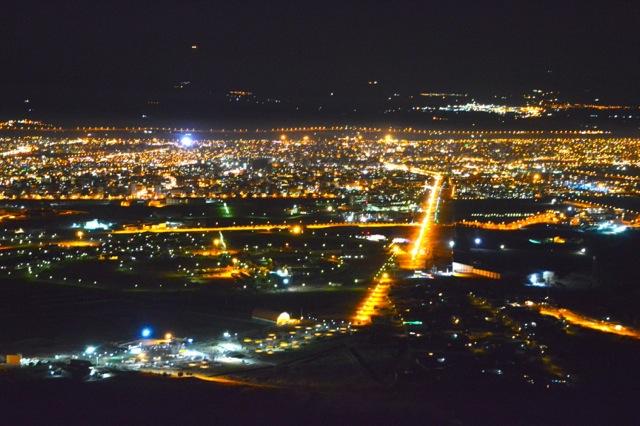 Night view of Zanjan.