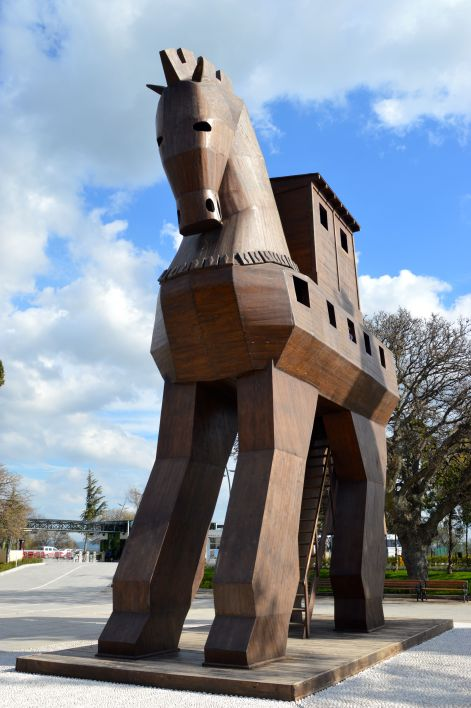 A replica of the Trojan horse.