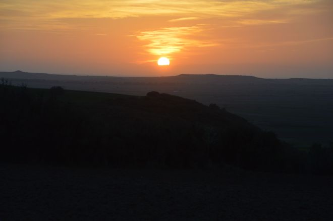 Sunset over the valley.