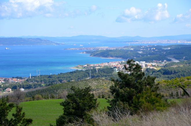 Our first view of the Dardanelles.
