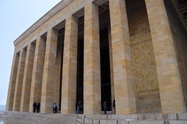 Ataturk's Mausoleum.