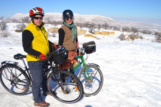 Exploring Cappadocia by bike.