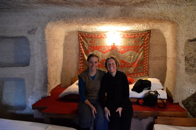 Excited about spending the night in our cave hotel.