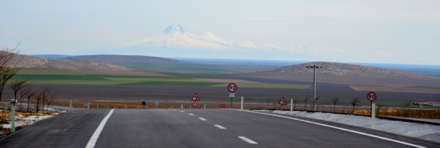 The view of the road to Konya