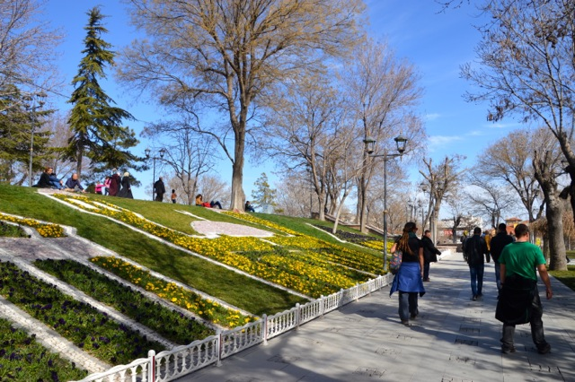 Exploring the public gardens of Konya.