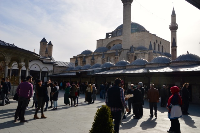 Inside the Mevlana museum grounds.