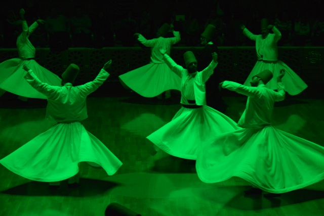 Part of the whirling dervish ceremony.