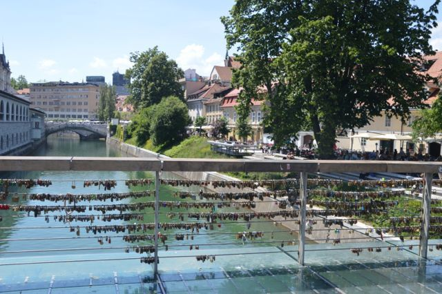 Padlocks on the bridge of lovers.