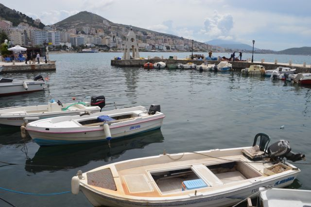 The coastal town of Sarande.