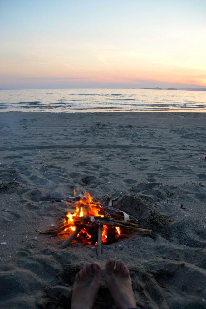 Last campfire in Turkey.