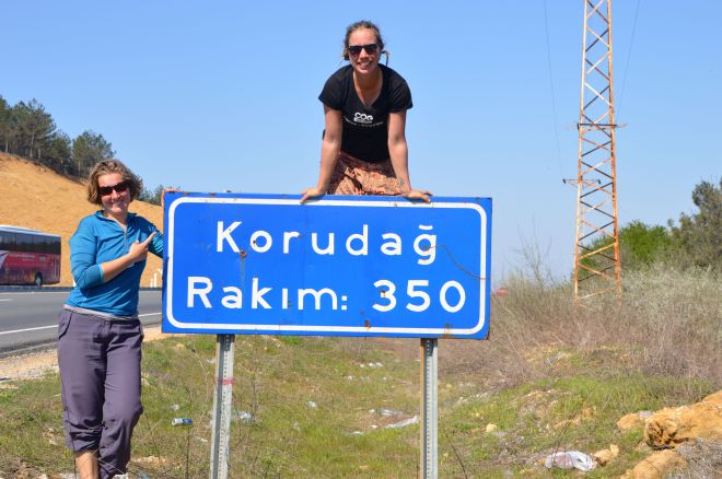 Our last hill in Turkey at a whopping 350 metres.