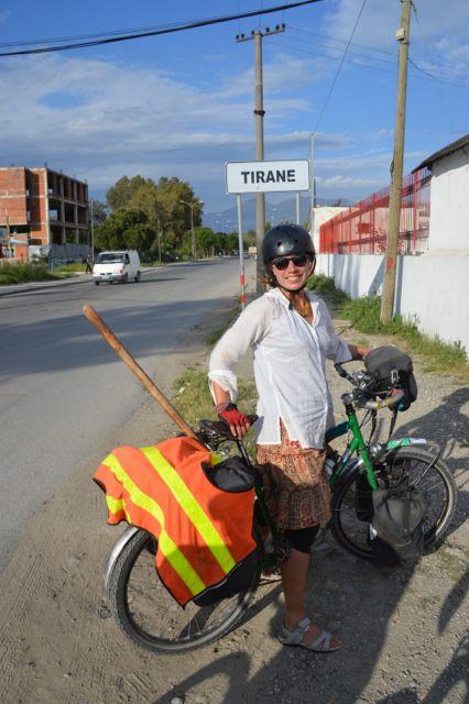 Arriving in Tirana.