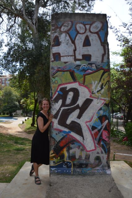 Part of the Berlin Wall in a Tirana Park.