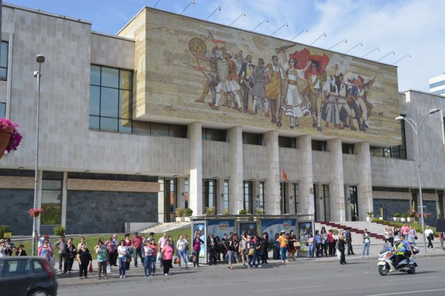 The mural on the History museum.