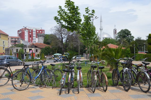The biking capital of Albania.