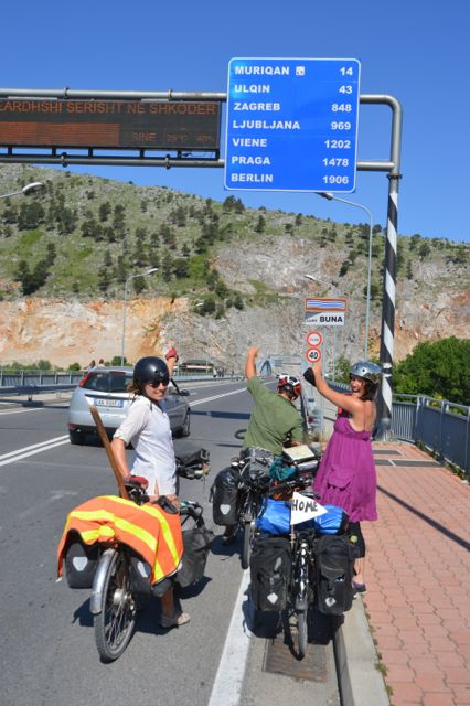 Our first sign to Montenegro.